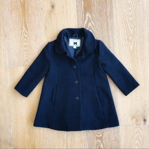 Janie and Jack Navy wool blend toddler pea coat